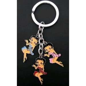 Betty Boop Charm Metal Key Chain 3 in 1 Automotive