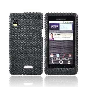 For Motorola Droid 2 Bling Hard Case Cover BLACK Cell