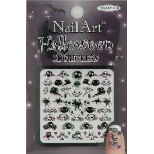 Nail Art Sticker Halloween Design NSB 05 Multi Black