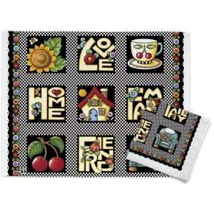 LOVE, HOME, FAMILY, FRIEND Linen Placemats and Napkin   Set