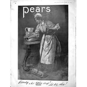 1901 Advertisement Pears Beauty Skin Soap Lady Washing