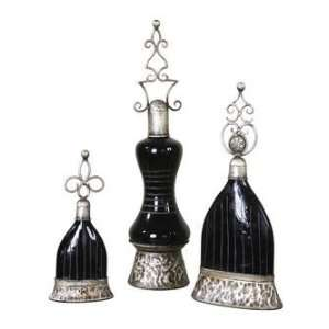 and Clocks KANIKA, PERFUME BOTTLES, SET/3: Furniture & Decor