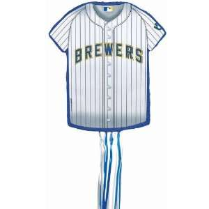 PINATA Milwaukee Brewers Baseball   Shirt Shaped Pull String Pinata