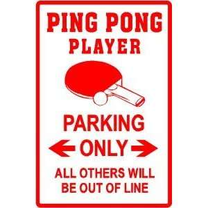 PING PONG PLAYER PARKING game novelty sign