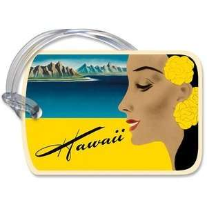 Hawaii Plastic Luggage Tag Vintage Decal: Kitchen & Dining