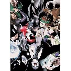 Print on Paper Alex Ross Batman, Clayface, Scarecrow, Poison Ivy