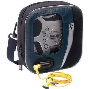 Blue/Black Nylon Portable CD Player Case Electronics
