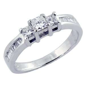 3 Stone Princess Cut Diamond Ring Jewelry