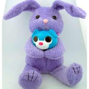 Purple Stuffed Animal Easter Bunny Teddy Bear with Candy