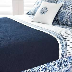 Lauren Ralph Lauren Palm Harbor Quilt Queen Dark Navy Blue Quilted