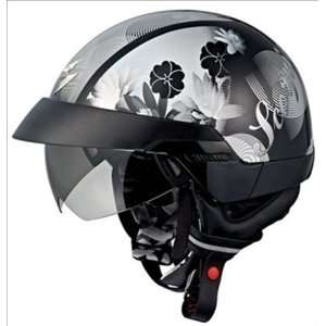 Scorpion EXO 100 Lilly Black Open face Motorcycle Helmet