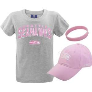 Seahawks Girls 7 16 Shirt and Hat Combo Pack Sports & Outdoors