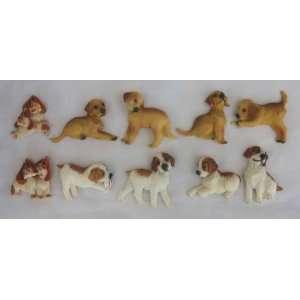10 Piece Dog Magnet Set