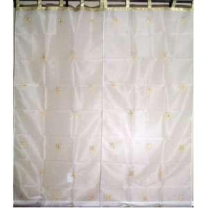 Panel 2 Designer Home Decorator India Sheer Curtain 90in: Home