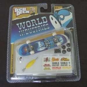Deck 96 mm Skateboard, World Industries 014 Fingerboard Toys & Games