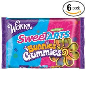 Wonka Sweetarts Gummy Bunnies Easter Bag, 14.0 Ounce (Pack of 6)