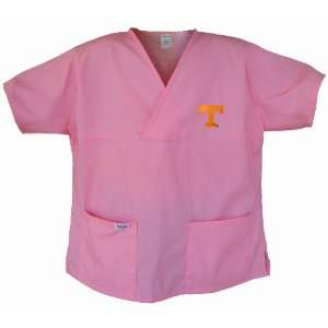 University of Tennessee Pink Scrubs Tops SHIRT Tennessee Vols Logo For
