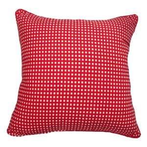16x16 Red Gingham Cotton Decorative Throw Pillow Cover