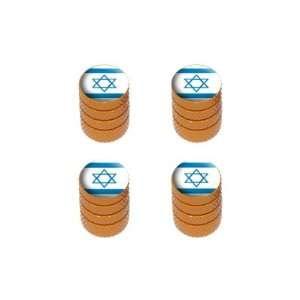 Israel Flag   Tire Rim Wheel Valve Stem Caps   Orange Automotive