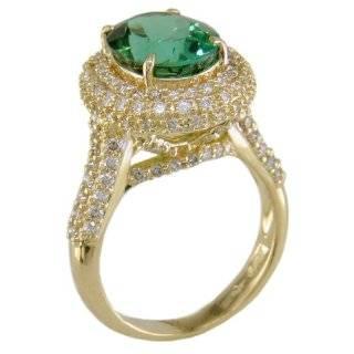 Diamond and Emerald Cut Green Tourmaline Ring Jewelry