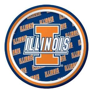 University of Illinois Paper Dessert Plates Toys & Games