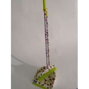 Designer Collection Long Handle Dustpan and Angle Broom Lady Bug Print