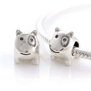925 Sterling Silver European Style Antique Silver Dog Charms/beads