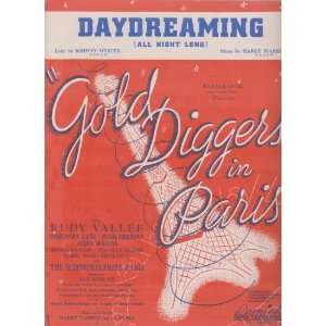 Gold Diggers in Paris ; Vocal Piano Chords Vintage Sheet