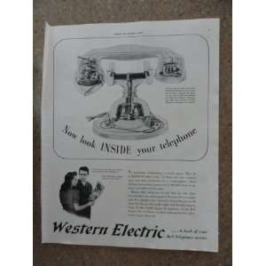 Western Electric , Vintage 40s full page print ad. (inside your