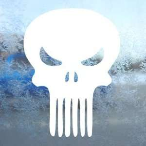The Punisher White Decal Car Laptop Window Vinyl White