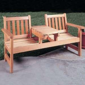 Twin Seater Bench Plan 917 (Woodworking Project Paper Plan