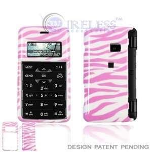 LG EnV2 VX9100 Cell Phone Pink/White Zebra Design Protective Case
