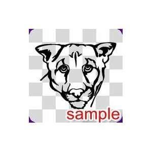 ANIMAL LIONESS HEAD WHITE VINYL DECAL STICKER Everything