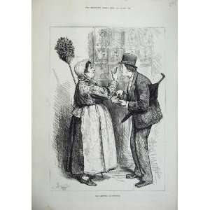 Paris Man Woman Servant Duster Book Umbrella Print