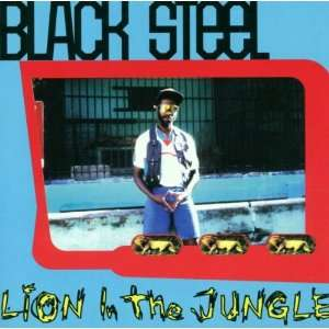 Lion in the Jungle Black Steel Music