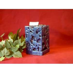 Stormy Nights Scented Cobalt Blue Ice Candle Everything Else