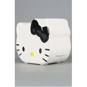 Hello Kitty Head Black Bow Ceramic Bank for Girls in Gift