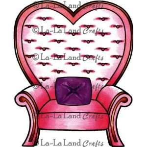 La La Land Cling Mount Stamp, Heart Chair