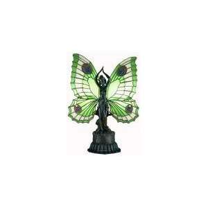 Butterfly Lady Green Accent Table Lamp 17 H Meyda 48019