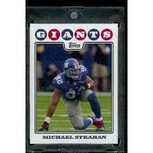 2008 Topps # 219 Michael Strahan   New York Giants   NFL Trading Cards