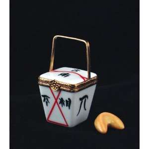 Chinese Takeout with Fortune Cookie French Limoges Box