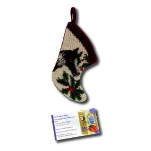 Little Dark Brown Horse Stocking Needle Point Christmas Xmas Seasonal