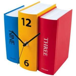Table Clock Book Color Paper