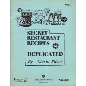 , Duplicated &/Or Imitated. Volume l, Book l. Gloria. Pitzer Books
