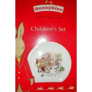Bunnykins by Royal Doulton Childrens Set [plate, cereal bowl, handle