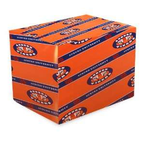 Auburn Tigers Orange Gift Wrap Paper