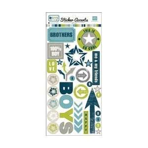 Echo Park Paper Boys Stickers; 5 Items/Order Arts, Crafts