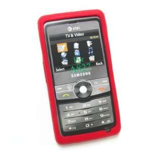 SAMSUNG ACCESS A827 AT&T RED Premium Silicone Skin Protective Cover