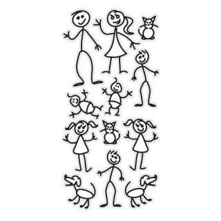 Stick Family Decal Kit: Automotive