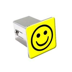 Happy Smile   Chrome 2 Tow Trailer Hitch Cover Plug